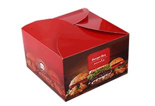 چاپ تولید انواع جعبه همبرگر ساده