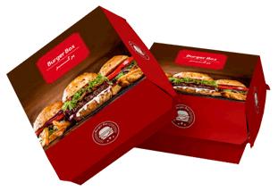 چاپ انواع جعبه همبرگر صدفی