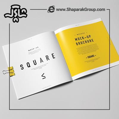 طراحی و چاپ انواع کاتالوگ مربع 19 سانت
